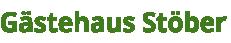 Gästehaus Stöber Schriftzug